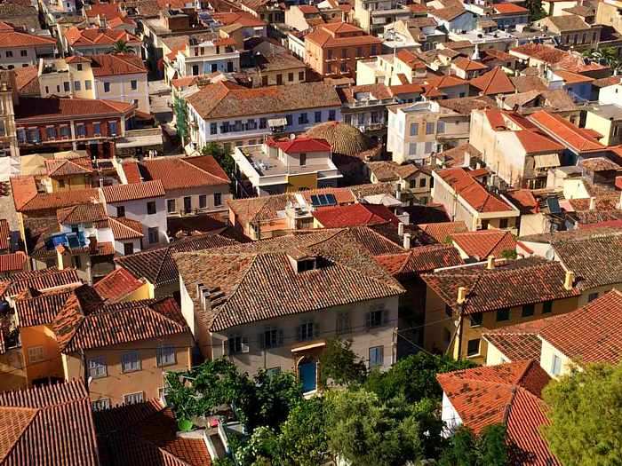 rooftops in the Nafplio Old Town I