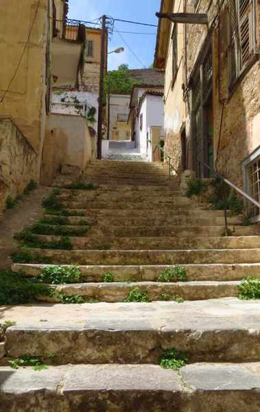 steps in the Nafplio Old Town