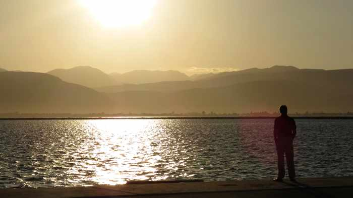 sunset view from the Nafplio port
