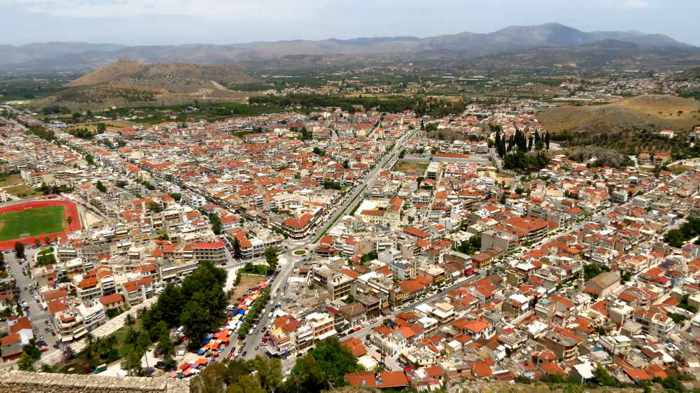 the Nafplio New Town area