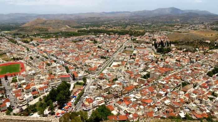 the Nafplio New Town area