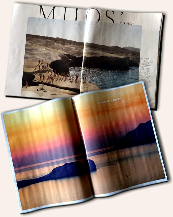 Travel magazine articles about Milos