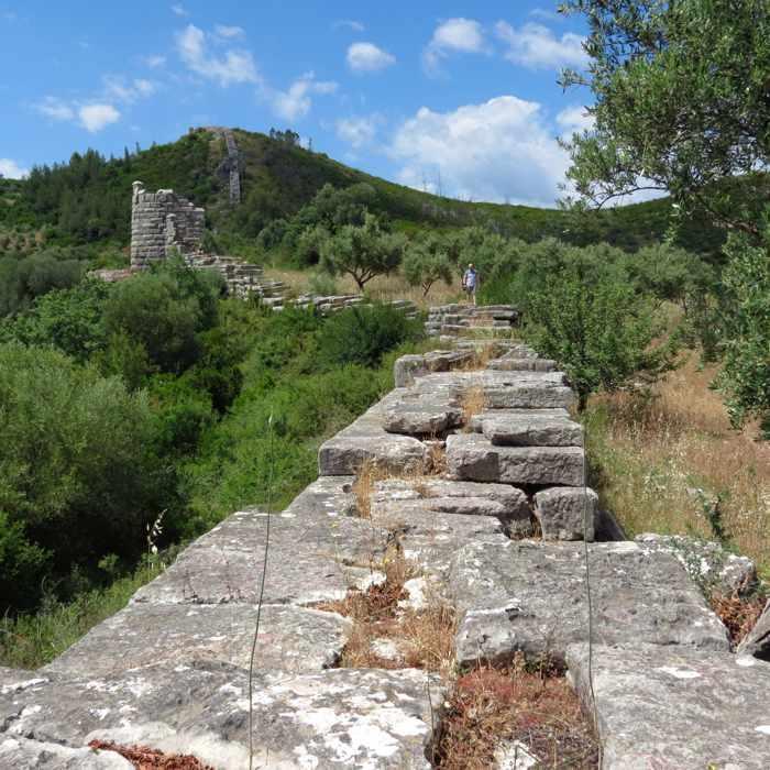Circuit wall at Ancient Messini Greece