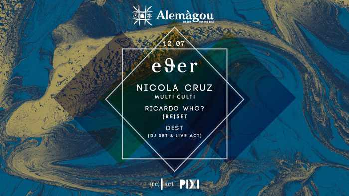 Alemagou beach club Mykonos hosts EΘER party