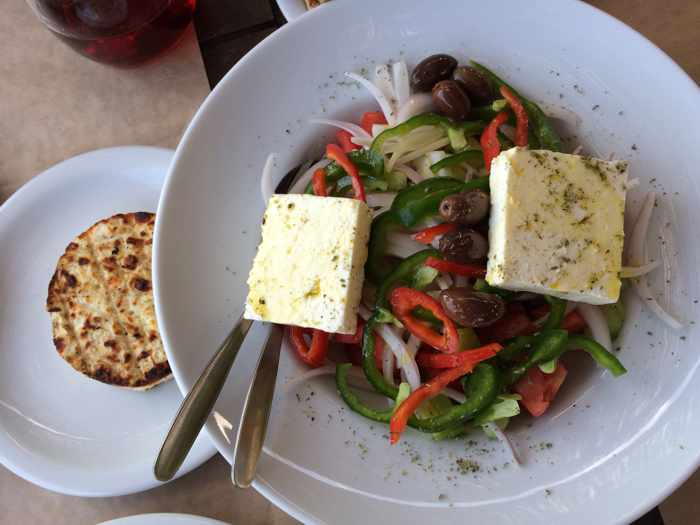 Greek salad and Tagliani cheese