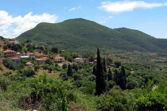 Mavromati village and countryside