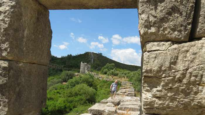 the circuit wall at Ancient Messini