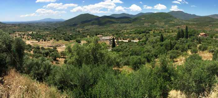 View from Mavromati village