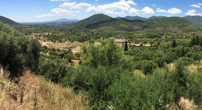 Ancient Messini countryside