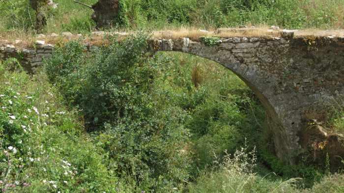 old stone bridge at Andromonastiro monastery