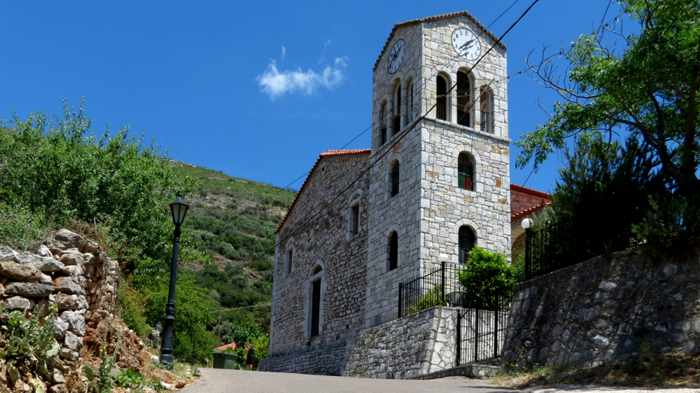 Agios Dimitrios church in Mavromati