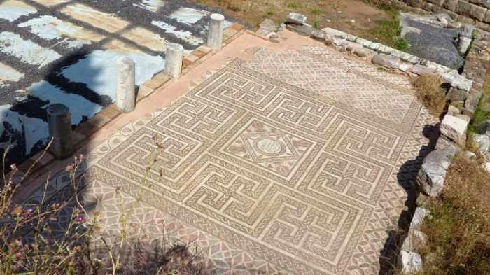 floor mosaics at Ancient Messini