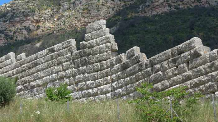 circuit wall near the Arcadian Gate