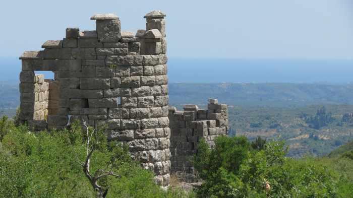 circuit wall tower at Ancient Messini