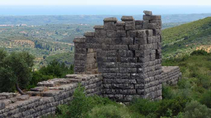 circuit wall tower at Ancient Messini