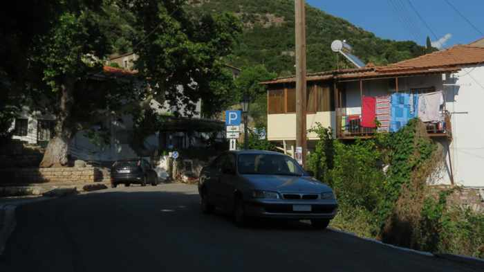 along the main road at Mavromati