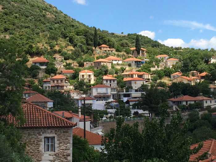 Mavromati village in Messenia