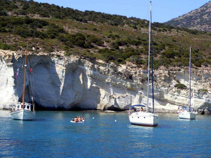 Kleftiko coast on Milos
