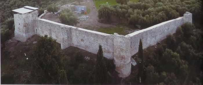 Androusa Castle aerial view