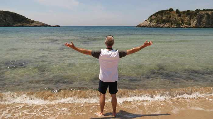 Donny at Voidokilia beach