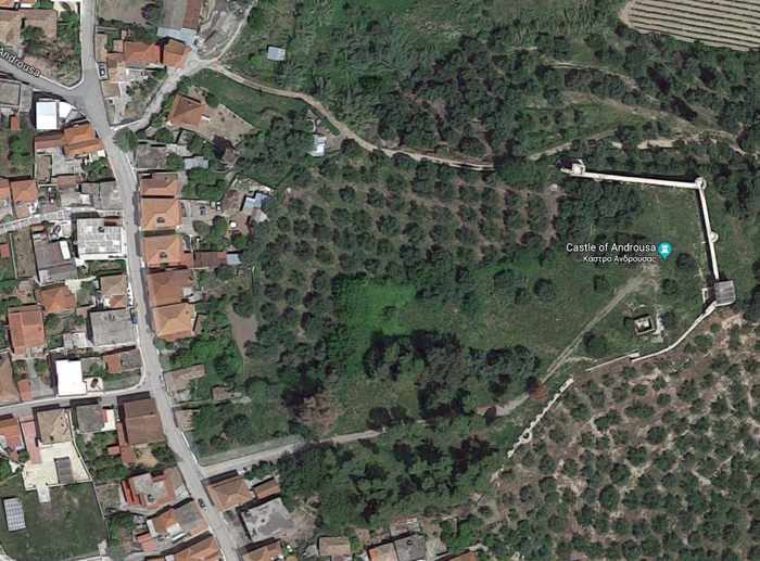 Google map view of Androusa Castle