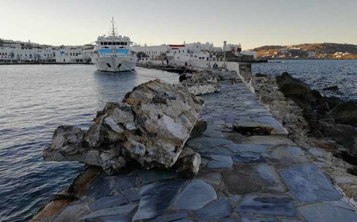 Mykonos Old Port jetty