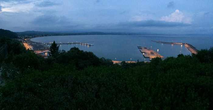 Twilight view of Katakolo