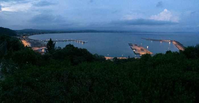 Twilight view of Katakolo