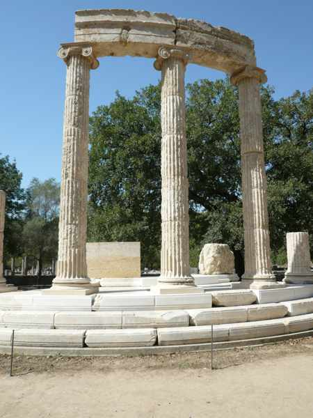 UNESCO photo by Francesco Bandarin of a temple at Ancient Olympia
