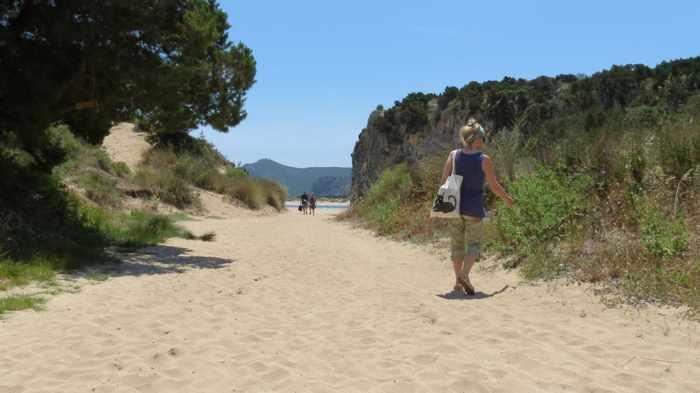Voidokilia beach entrance path