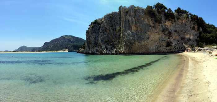 Voidokilia beach panoramic
