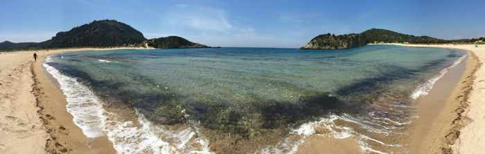 Voidokilia beach panoramic