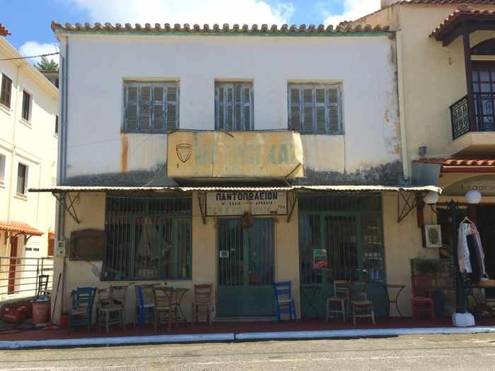a kafenion in Kyparissia