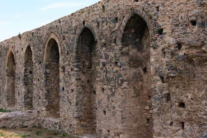Androusa castle wall