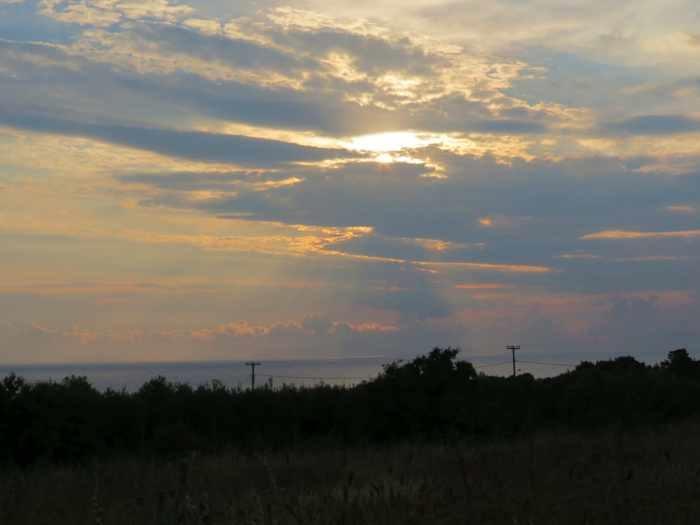 sunset view from Katakolo