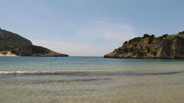 the mouth of Voidokilia Bay
