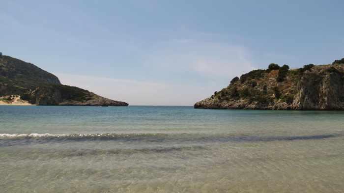 the mouth of Voidokilia Bay