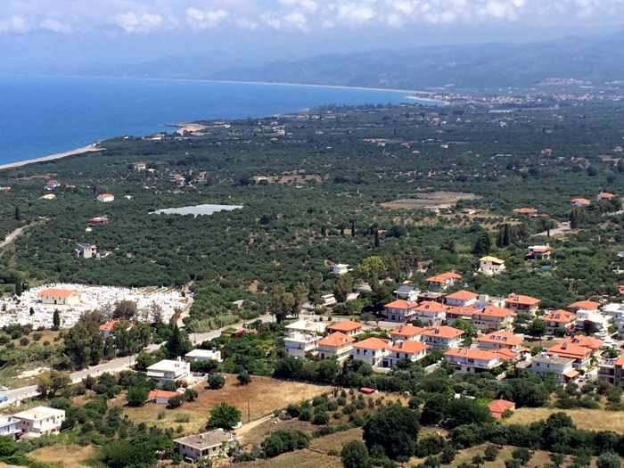 view from Kyparissia Castle