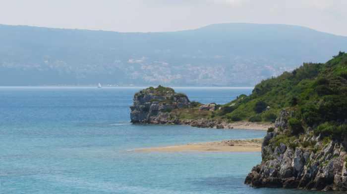 Glossa beach Sfakteria island