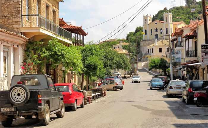 Eleni Chameri Street in Kyparissia