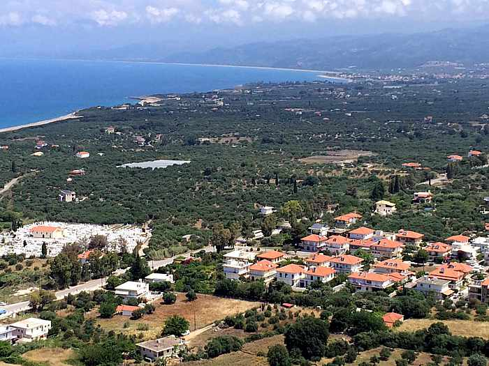 Kyparissia Castle view