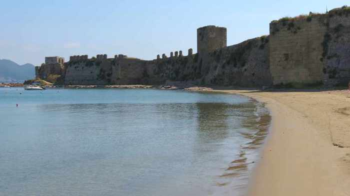 Methoni Castle and Methoni beach