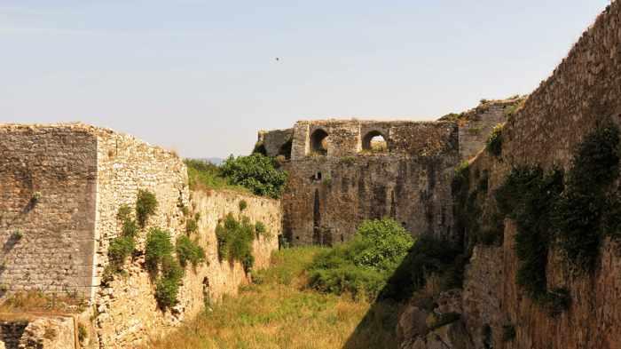 Methoni Castle moat