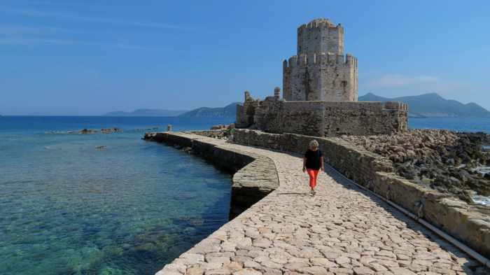 Bourtzi fortress of Methoni Castle