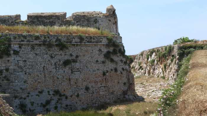 Methoni Castle wall