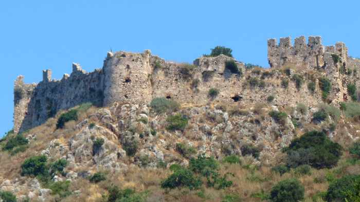 the south wall of the Old Castle of Navarino