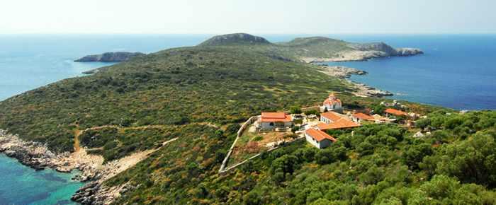 Proti Island monastery