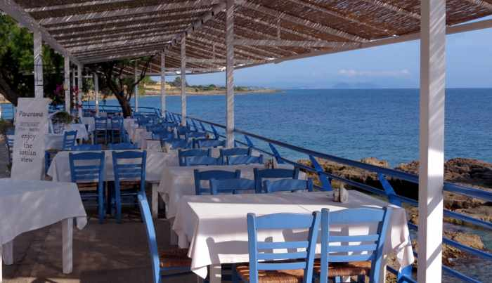 Panorama Fish Tavern Restaurant in Marathopoli