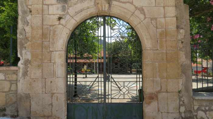 entrance gate in Kyparissia