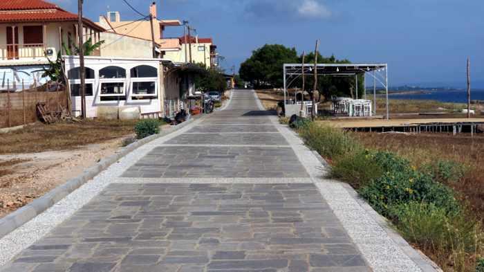 Marathopoli seaside pedestrian promenade
